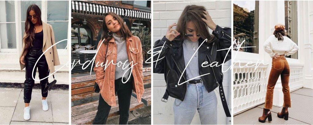 corduroy & leather trendpagina